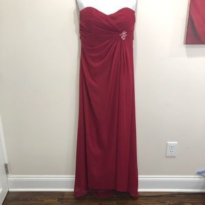 Alexia Designs Formal Red Bridesmaid Dress Size 10